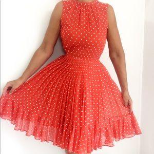Vintage 60s I.Magnin Designer Polka Dot Dress